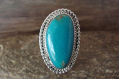 £72.09 • Buy Navajo Indian Jewelry Sterling Silver Turquoise Ring Size 9 - Platero