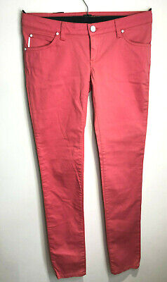 £20 • Buy BNWT Calvin Klein Pink Coral Low Rise Skinny Jeans Chinos Trousers W 30 12 L 34
