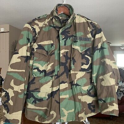 $47.80 • Buy M-65 US Army Coat Cold Weather Field Woodland Camo 8415-01-099-7833 Med X-Short