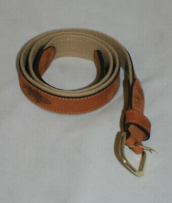 $24.77 • Buy Zep-Pro Embroidered Leather Canvas Belt Fish Mens Sz 38 Tan Brown NWOT