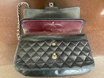 £838.93 • Buy Chanel Quilted Classic Flap Medium Authentic Black Bag