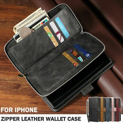 £8.95 • Buy Zip Coin Purse Card Flip Leather Wallet Case For IPhone 7 8 Plus X 11 Pro Max 12