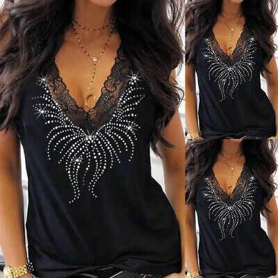 £8.96 • Buy Womens Sleeveless Sequins Vest Tops Ladies Casual Party Tank Blouse Shirt Tunic
