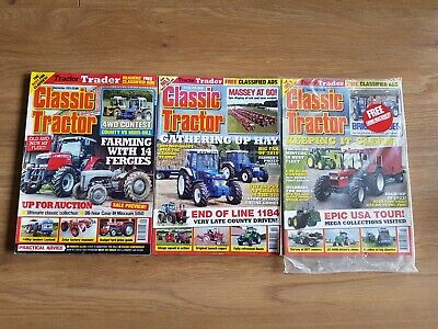 £0.99 • Buy Classic Tractor Magazines X3 Sept 2013, October 2018 & March 2019 (New & Sealed)