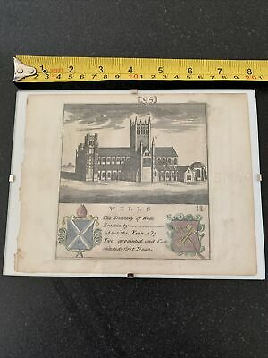 £10 • Buy Wells Cathedral Deanery Original Print Antique