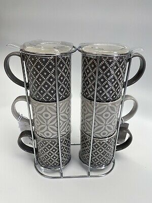 £14.95 • Buy Next 6 Geo Embossed Stacking Cups