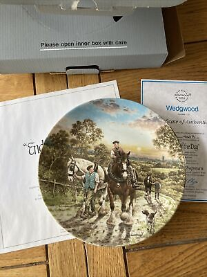 £5 • Buy Wedgewood Life On The Farm Plate - End Of The Day
