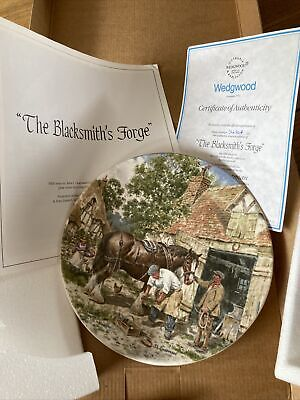 £5 • Buy Wedgewood Life On The Farm Plate - The Blacksmiths Forge