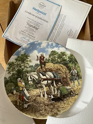 £5 • Buy Wedgewood Life On The Farm Plate - Haymaking