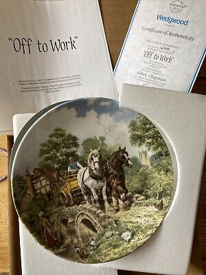 £5 • Buy Wedgewood Life On The Farm Plate - Off To Work