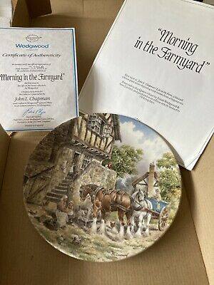 £5 • Buy Wedgewood Life On The Farm Plate - Morning In The Farmyard