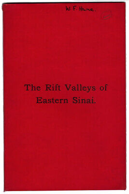 £40 • Buy The Rift Valleys & Geology Of Eastern Sinai By W. F. Hume 1901.