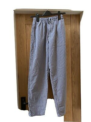 £2.10 • Buy Navy Check Chef Trousers Size Small