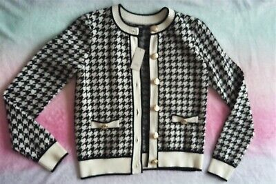 £21.99 • Buy BNWT River Island Dogtooth Cardigan With Gold Buttons Lovely & Soft Fits UK 8-10