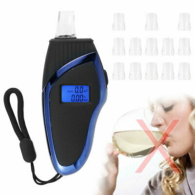 £6.99 • Buy New Breath-Alcohol Tester Professional Breathalyser LCD Digital +14x Mouthpiece