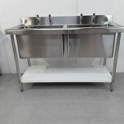 £474 • Buy Commercial Sink Double Pot Wash Deep Stainless Infernus
