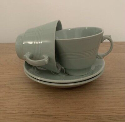 £13 • Buy 2 X Woods Ware Beryl Green Tea Cups With Saucers