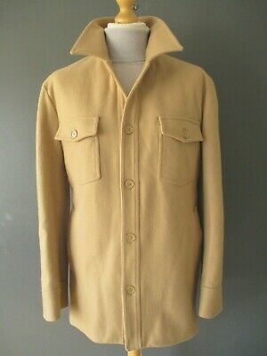 """$487.08 • Buy Vtg Helmut Lang Chore Coat Jacket (m-42"""") Fawn Wool Quilted-lining Heavyweight A"""