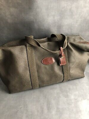 £599.98 • Buy Vintage *MULBERRY* Scotchgrain Leather Clipper Duffle Weekend Travel Holdall Bag
