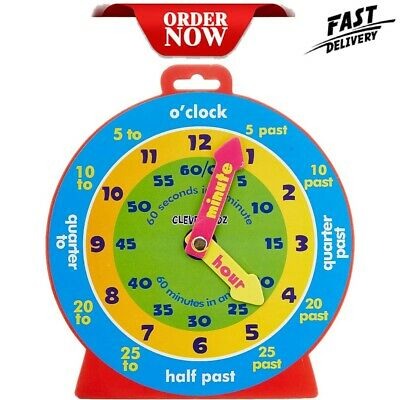 £4.96 • Buy Kids Teaching Clock Child Learn To Tell The Time Boys Girls Educational Game Toy