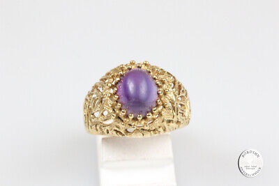 £440.13 • Buy Ring 18 Carat Gold With Amethyst Jewelry Finger Ring Men's Gift