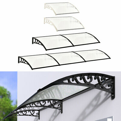 £77.95 • Buy Door Canopy Awning Shelter Front Back Outdoor Porch Patio Window Roof Rain Cover