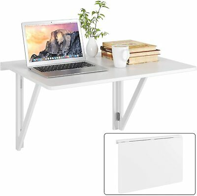 £35.99 • Buy Folding Wall Mounted Table Foldable Dining Table Computer Desk White 80x60cm