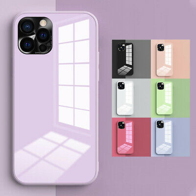 AU10.68 • Buy For IPhone 12 11 Pro Max XS XR X 8 7 Plus Hybrid Tempered Glass Hard Case Cover