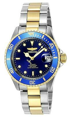 View Details NEW Invicta 8928OB Pro Diver Wrist Watch Stainless Steel Automatic Blue & Gold • 79.99£