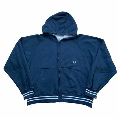 £16.99 • Buy Fred Perry Women's Zip Up Hoodie Track Jacket Navy SIZE 12