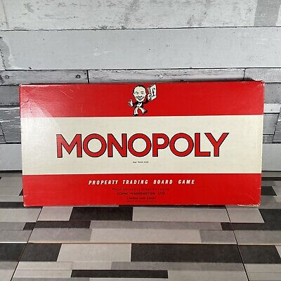 £18.97 • Buy Monopoly Board Game With Classic Red Box Waddingtons Vintage 1961