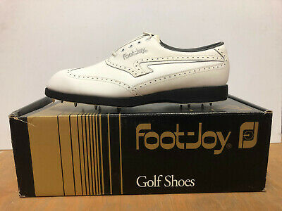 $65 • Buy Vintage Mens Footjoy TCX Golf Shoes Spikes Cleats Deadstock NIB NOS 90s Size 8.5