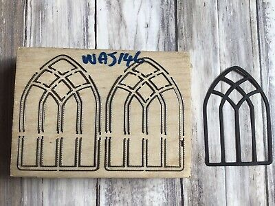 £18.50 • Buy Thick Wooden Die Cutter Beautiful Stained Glass Window Rare Custom Made