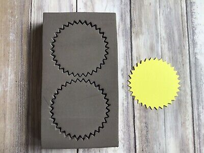 £15 • Buy Thick Wooden Die Cutter Circle Zigzag X 2 Rare Custom Made