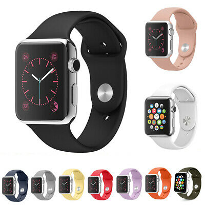 AU8.89 • Buy For Apple Watch Series 6 5 4 SE 44/42/40/38mm Sports IWatch Band Silicone Strap