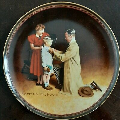 $ CDN16.37 • Buy Norman Rockwell  Ready For The World  Edwin M. Knowles Collectors China Plate