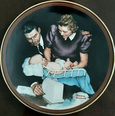 $ CDN16.37 • Buy Norman Rockwell  Growing Strong  Edwin M. Knowles Collectors China Plate