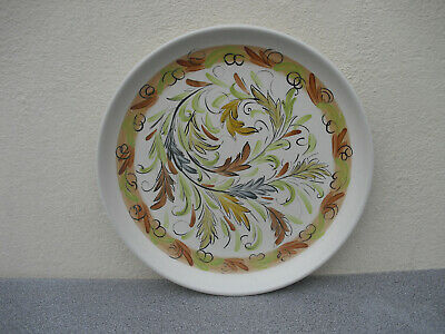 £8.50 • Buy Denby Glyn Colledge Brown Autumnal Leaf Hand Painted Dinner Plate Stoneware 50s