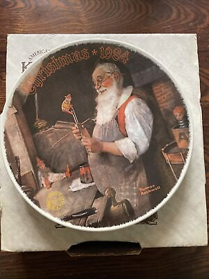 $ CDN10 • Buy Norman Rockwell Santa's In His Workshop Plate Christmas Collection1984 With COA