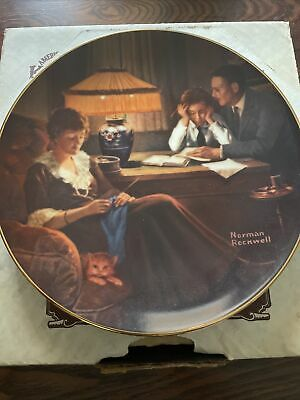 $ CDN1 • Buy Norman Rockwell Plate Father's Help Limited Edition Edwin M Knowles Fine China