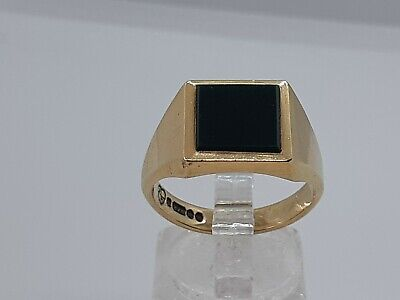 £240 • Buy Mens 9ct Gold Signet Ring With Bloodstone Size T Hallmarked