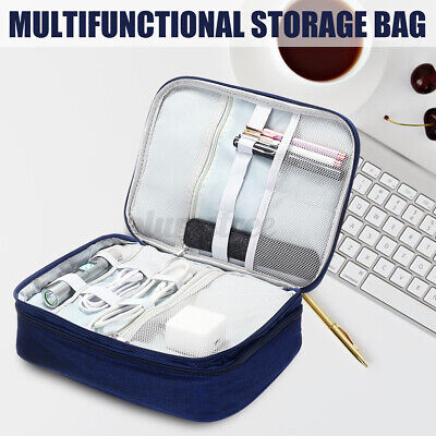 AU21.99 • Buy Electronic Accessories Cable Charger Storage Travel Case Organizer Bag USB 3