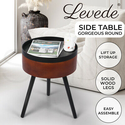 AU49.99 • Buy Levede Side End Table Sofa Coffee Table Storage Bedside Table Plant Stand Wooden