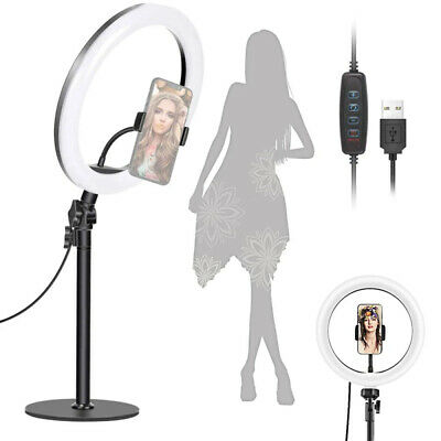 """AU19.95 • Buy 10"""" LED Selfie Ring Light With Stand For Live Streaming, Makeup, Tiktok, Youtube"""