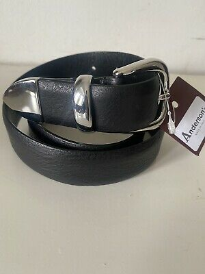 £45 • Buy Anderson's Black Men's Leather Dress Belt 34UK / 85 EU NWT Made In Italy