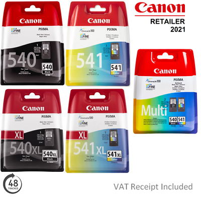 £33.50 • Buy Genuine Canon PG540/PG540XL Or CL541/CL541XL Ink Cartridges For PIXMA Printers