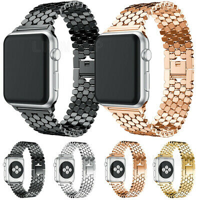 $ CDN10.64 • Buy Stainless Steel IWatch Metal Strap Band For Apple Watch Series 6 5 4 3 2 38~44mm