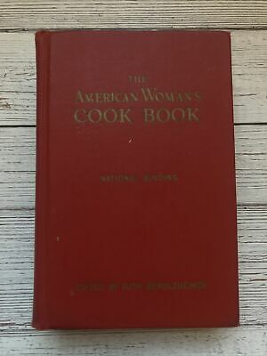 £16.53 • Buy Vintage The American Woman's Cookbook 1950 1950's Housewife Red Cover