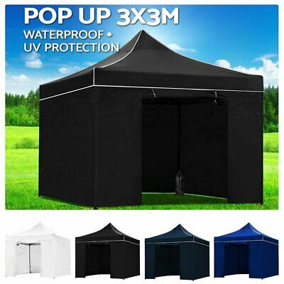 AU125 • Buy 3x3m Pop Up Gazebo Outdoor Tent Folding Marquee Party Camping Market Canopy