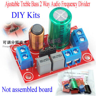 AU5.38 • Buy Ajustable Treble Bass 2 Way Audio Frequency Divider DIY Kits Crossover Filters